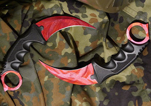 CS:GO Karambit Messer Doppler Ruby